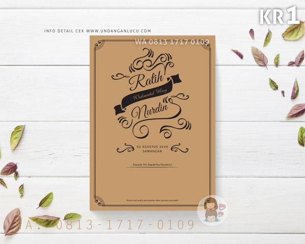 Undangan Softcover Klasik Rustic 1